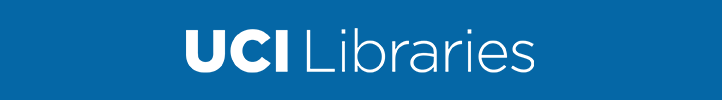 White UCI Libraries Logo and Center for Critical Korean Studies Logo on Blue Background